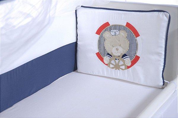 Kit Mini Berço Urso Marinheiro 9 Peças