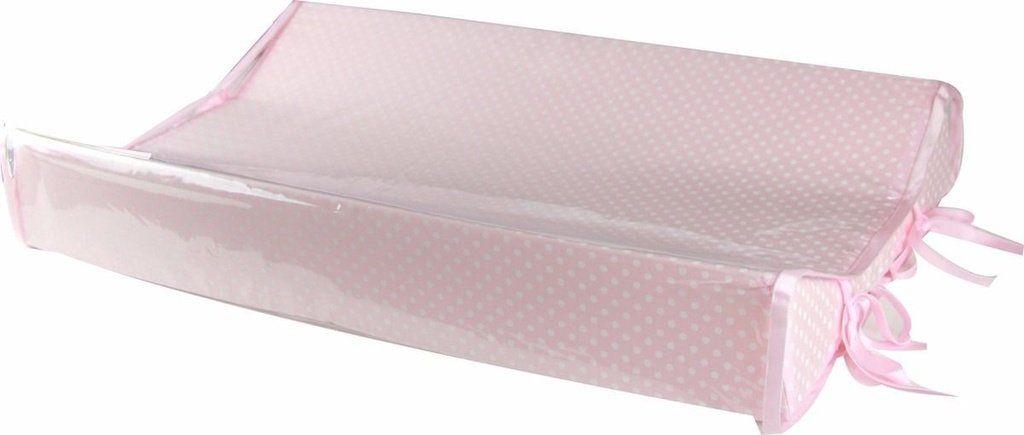 Kit Trocador Americano Rosa Poá + Almofada Amamentação Combinando