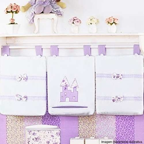 Porta Fralda Infantil Princesa 3 Pçs Menina