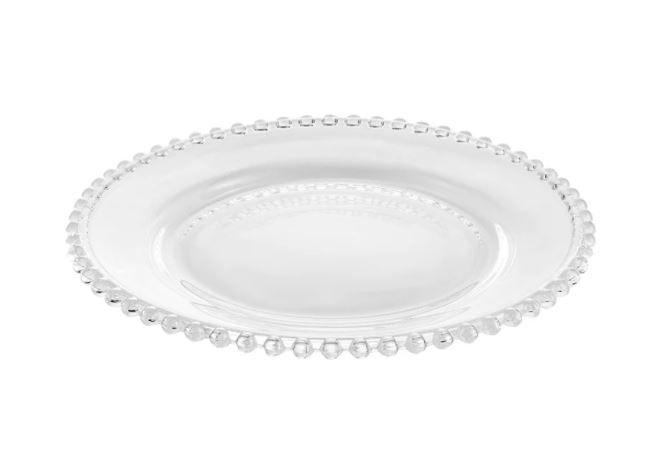 Prato Sobremesa Cristal Bolinha (SET DE 4)