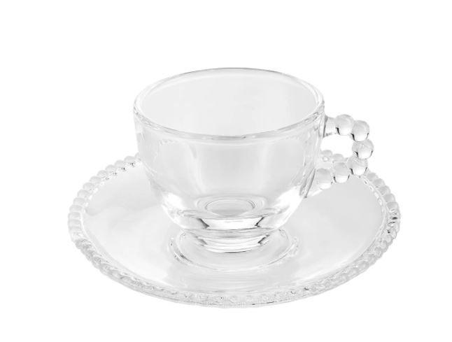 Xícara de Café Cristal Bolinha (SET DE 4)