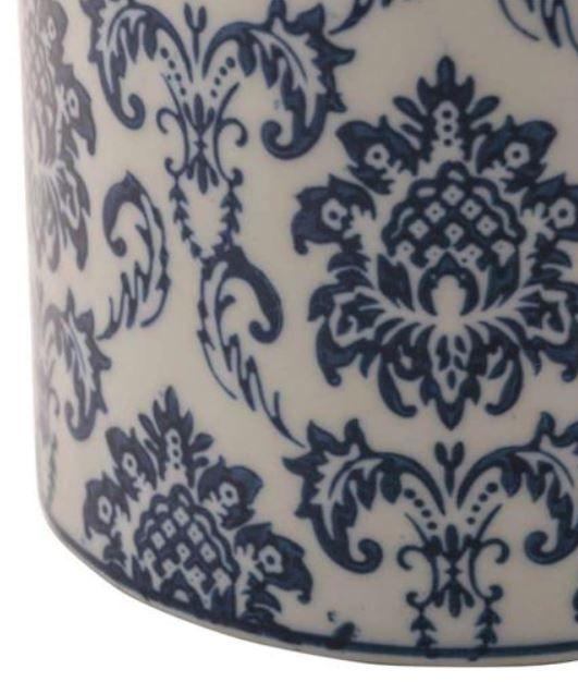 Potiche Decor Porcelana Azul G