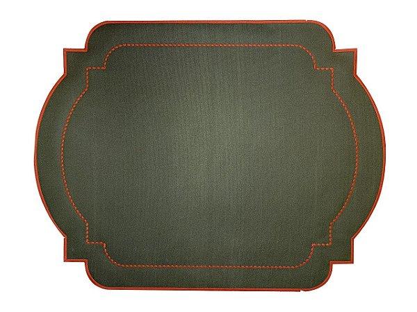 Jogo Americano Classic Verde c/ Laranja