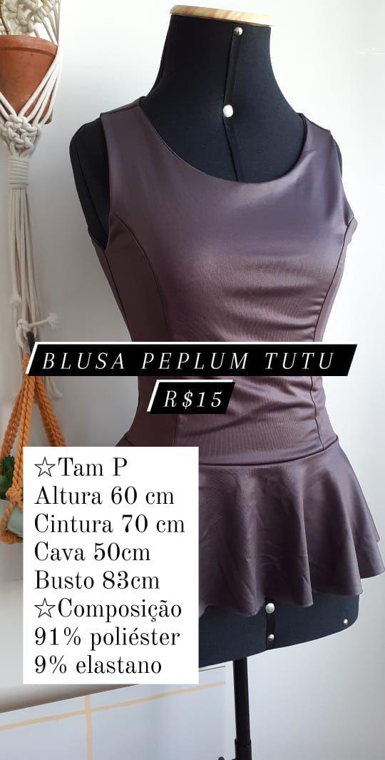 Blusa Peplum Tutu