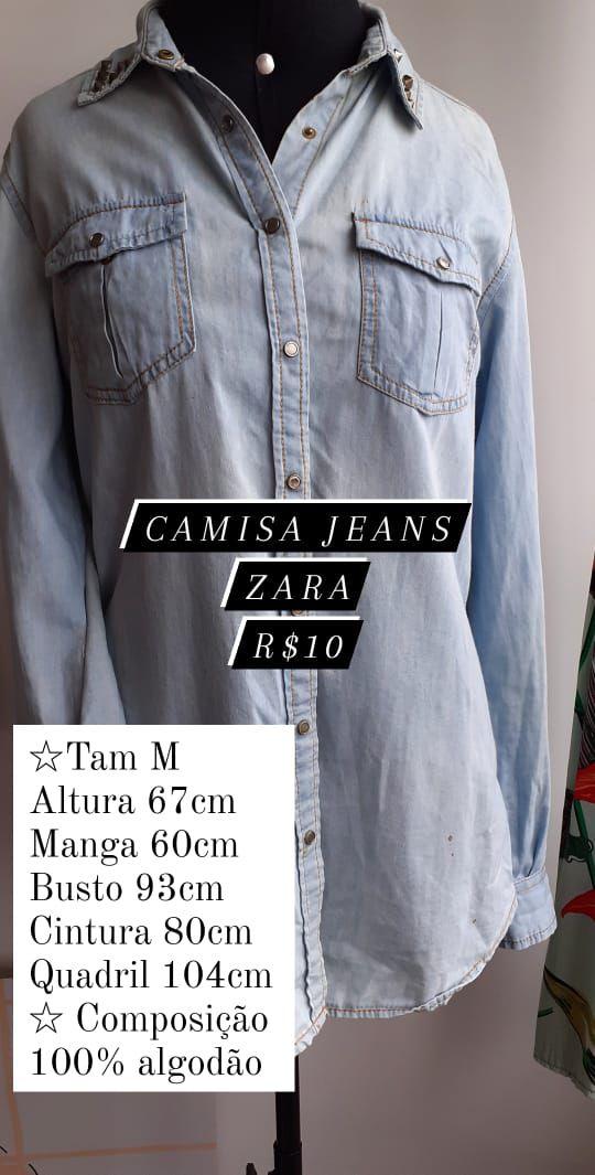 Camisa Jeans Zara
