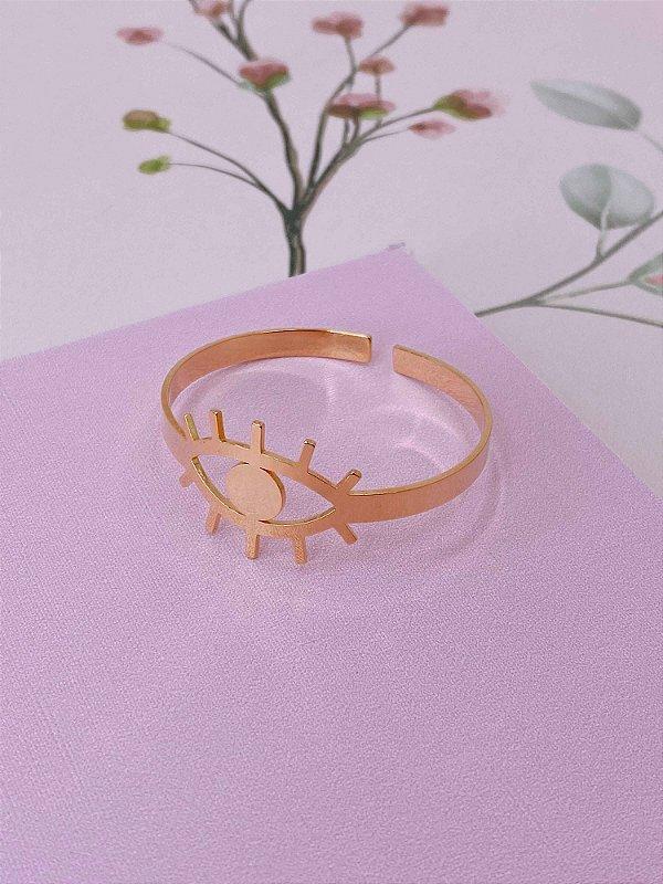 Pulseira bracelete dourado de Olho Grego