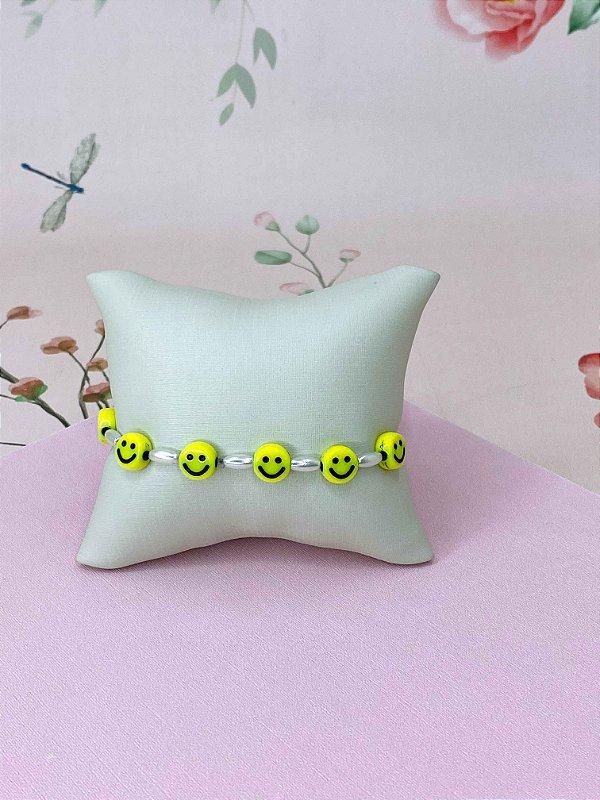 Pulseira Smile com miçangas de pérolas