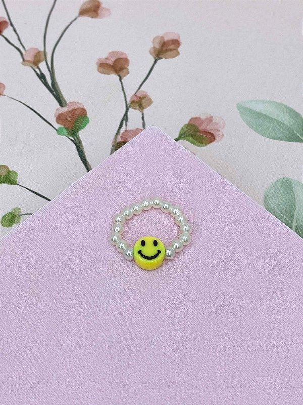 Anel Smile e pérola