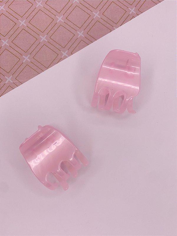 Kit com 2 Piranhas para cabelo - rosa
