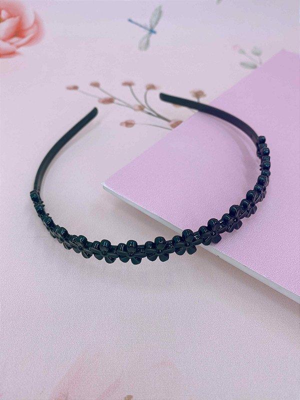 Arco Plástico florzinhas - preto ou marrom