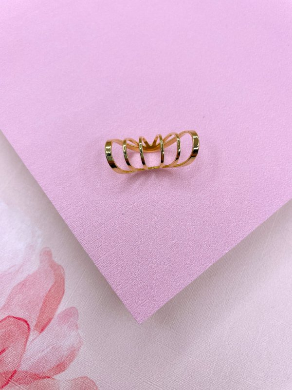Piercing Fake aros dourado