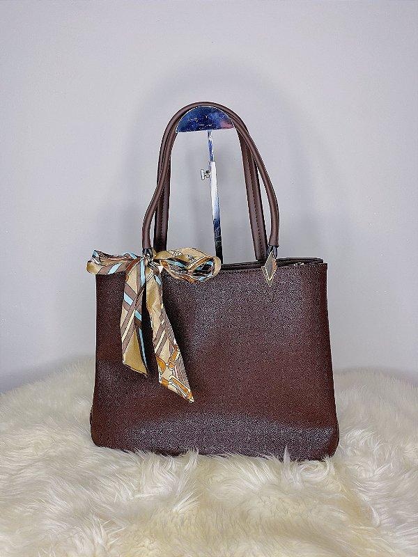 Bolsa com lenço - Marrom
