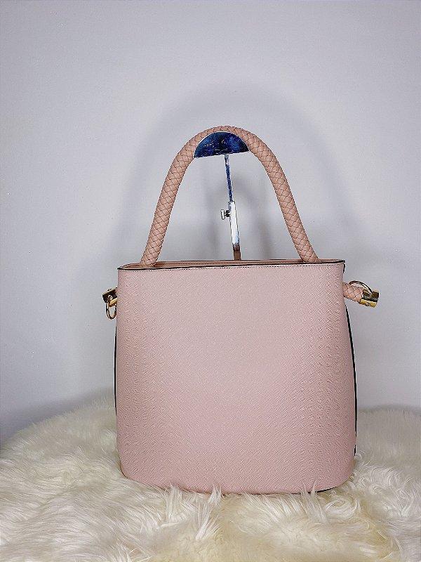 Bolsa com Alça trançada - rosê
