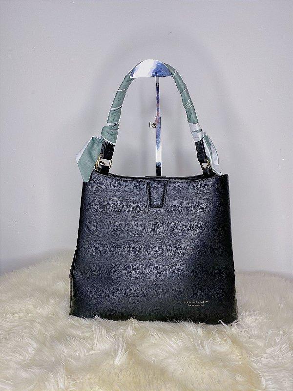 Bolsa Luana com lenço - preta