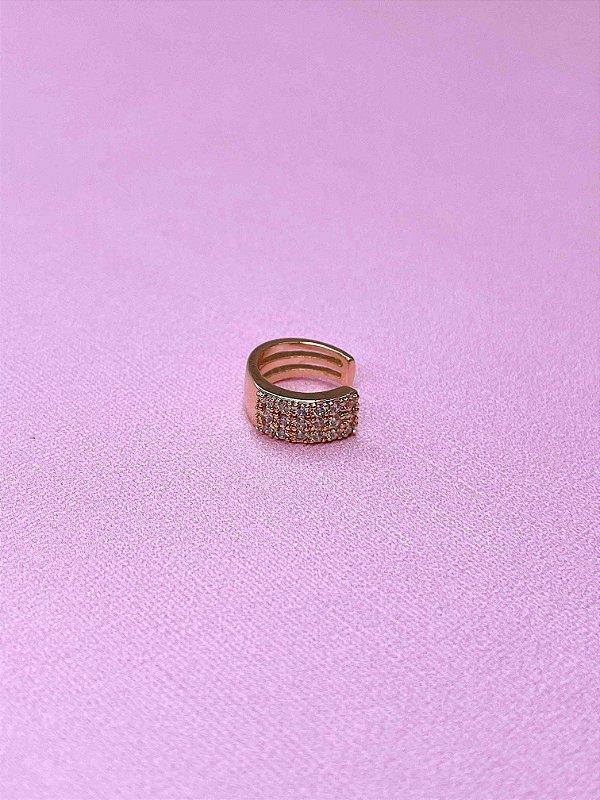 Piercing Fake com strass-prata,dourado ou ônix