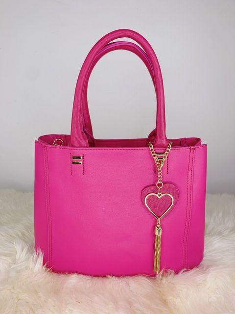 Bolsa íris com chaveiro de coração - rosa
