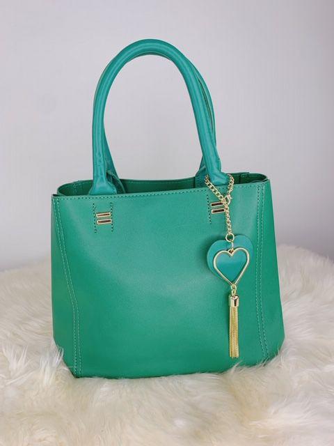 Bolsa íris com chaveiro de coração - verde