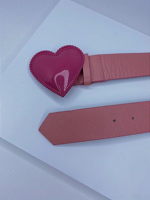 Cinto coração - pink