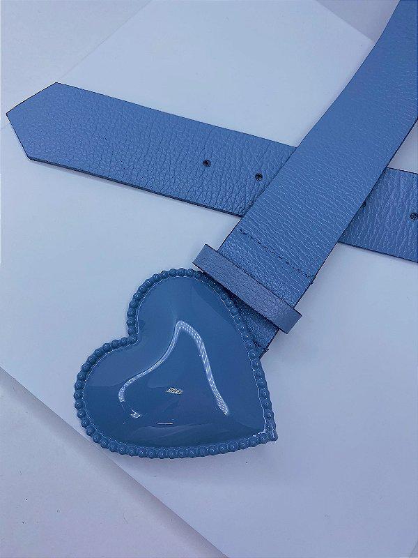 Cinto coração - azul