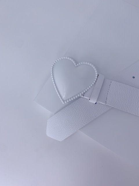 Cinto coração - branco