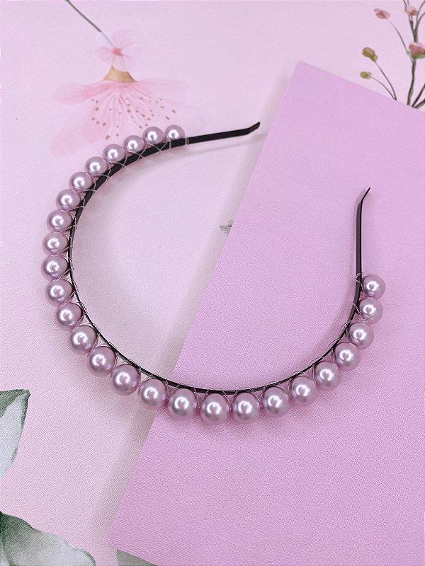Arco com esferas lilás