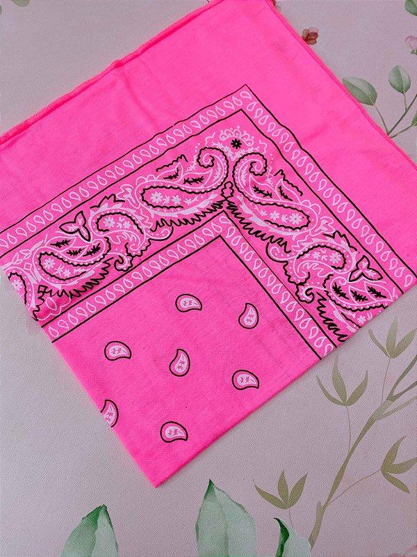 Bandana rosa neon