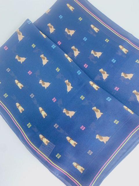 Lenço cachorrinhos azul marinho