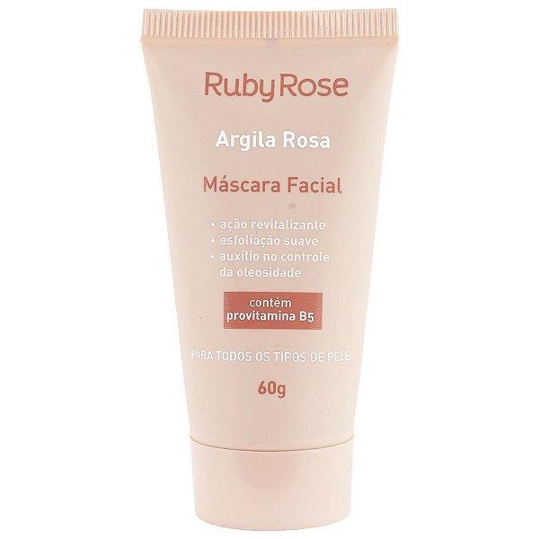 Máscara facial argila rosa - ruby rose