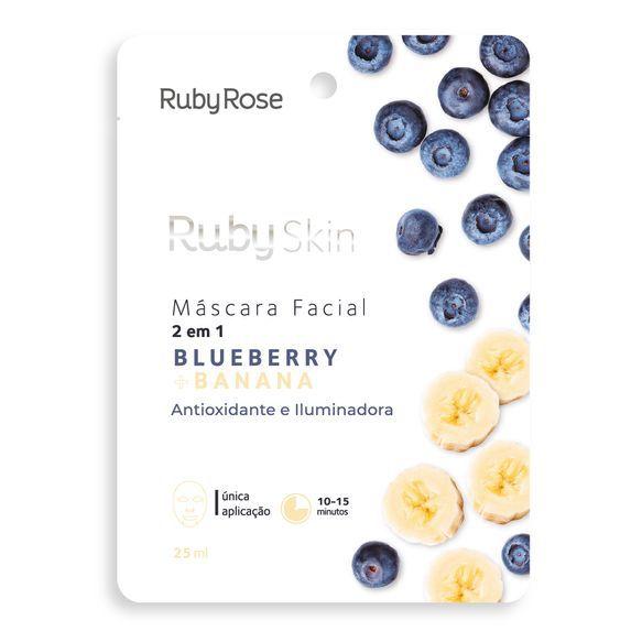 Mascara facial 2 em 1 blueberry + banana - Ruby rose