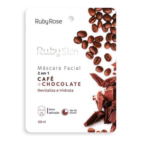 Mascara facial 2 em 1 café+chocolate- Ruby rose