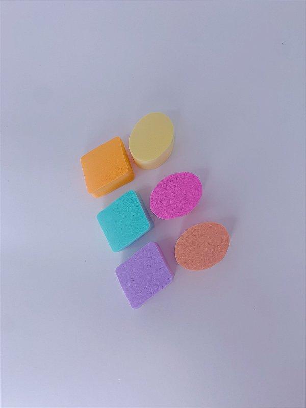 Kit 6 esponjas para maquiagem- cor 01