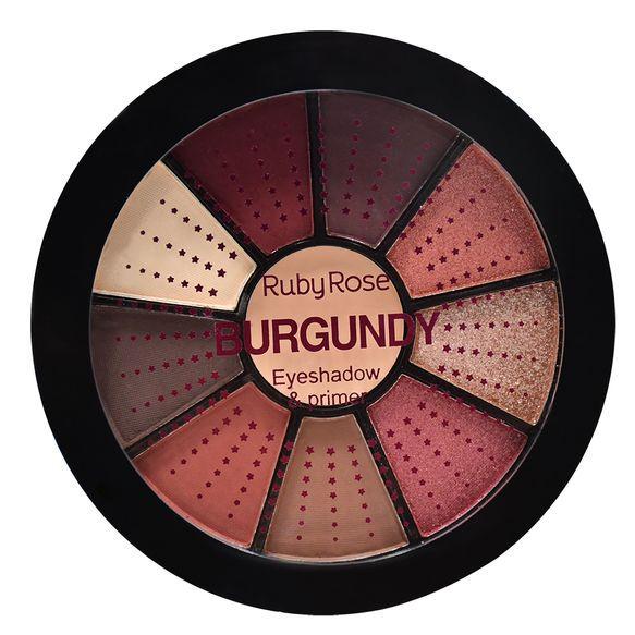 Mini paleta de sombras burgundy - Ruby Rose
