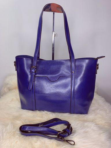 Bolsa grande com material maleável azul