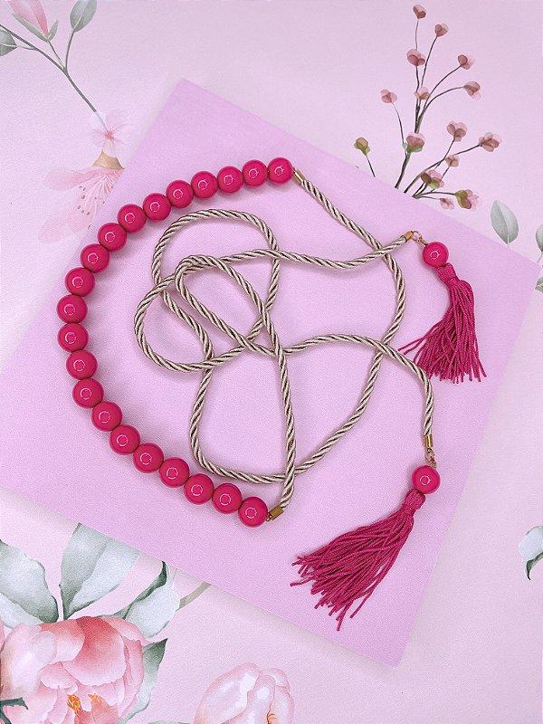 Cinto esferas e tessel - pink