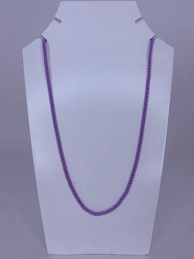 Colar médio elos quadrados - lilás