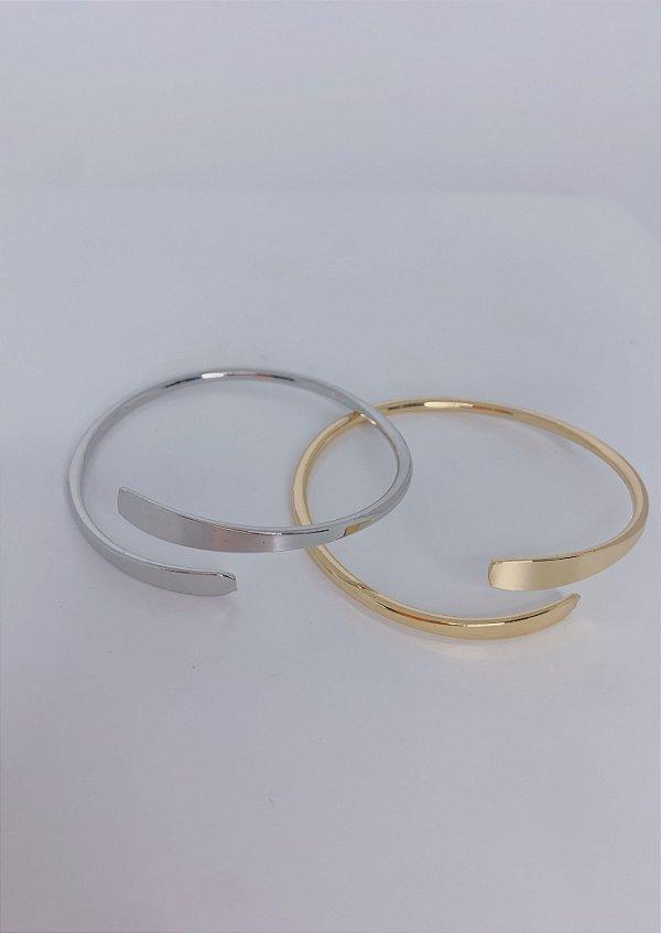 Pulseira bracelete de uma volta-prata ou dourada