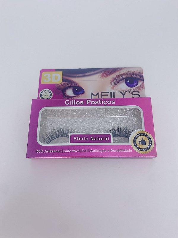 Cílios postiços 3D MEILY'S efeito natural - nºMCL-3017