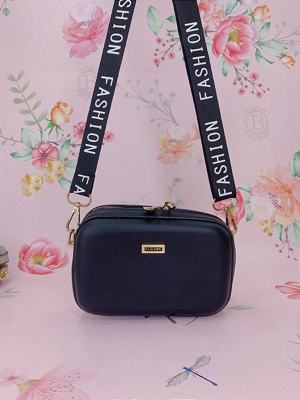 Bolsa Alça Fashion Pequena - marrom, verde, terracota, azul, preto, bege, amarelo ou cáqui