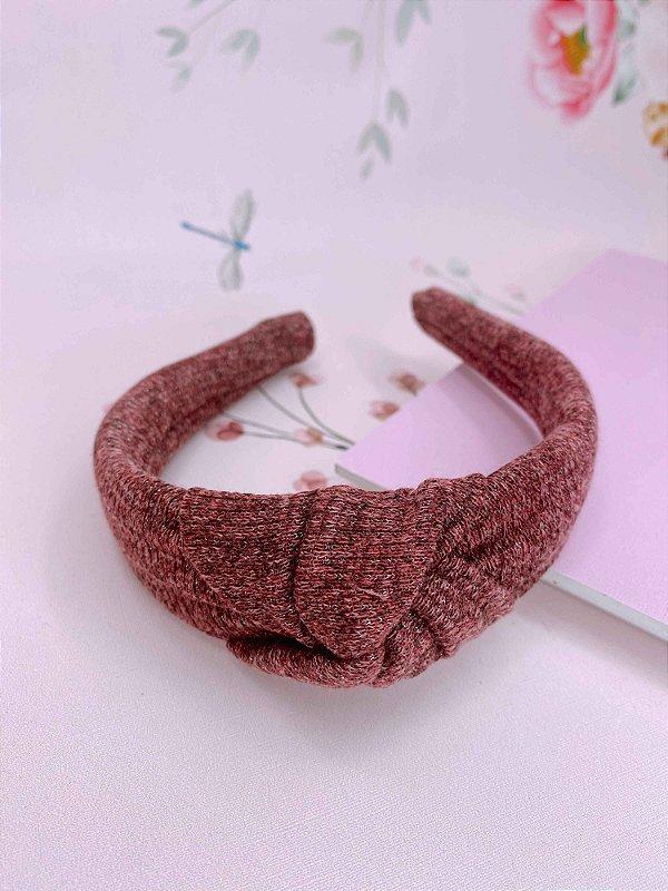 Arco nó tecido com brilho - rosê, marsala ou terracota