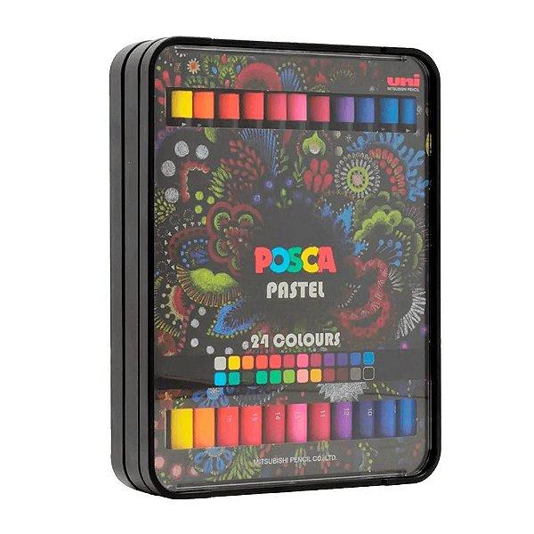 Giz de Cera Pastel Crayon POSCA Pastel c/24 cores