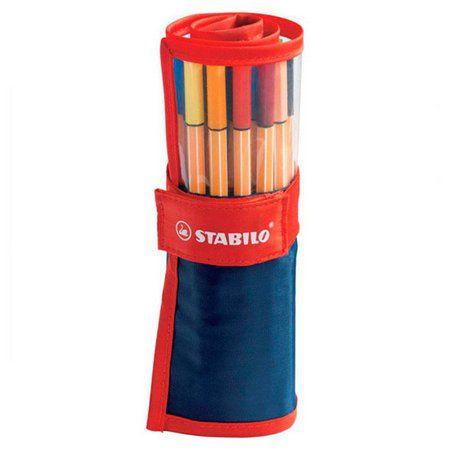 Estojo Roller Set STABILO Point 88 c/25