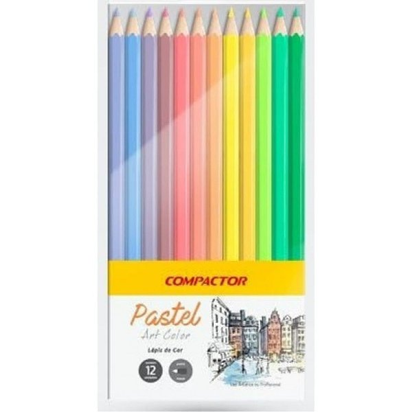Lápis de Cor Pastel Art Color COMPACTOR