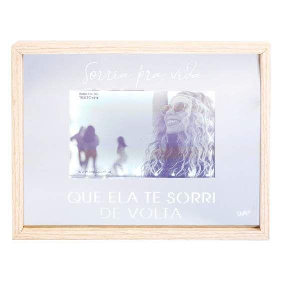 Porta Retrato Espelho Led Sorria Pra Vida UATT