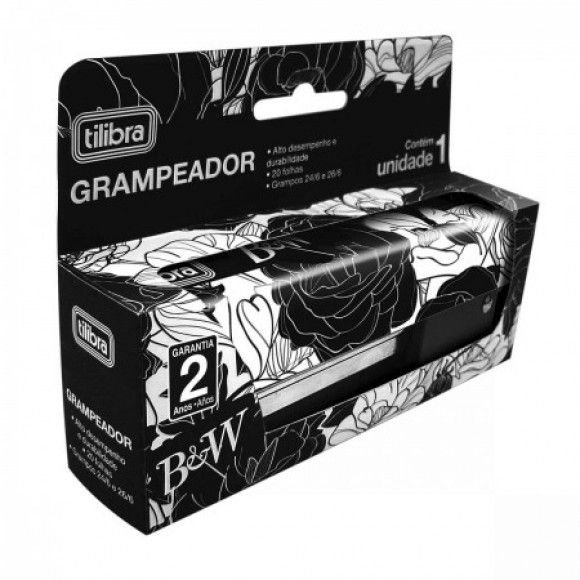 Grampeador 20F Mesa BeW BL - TILIBRA