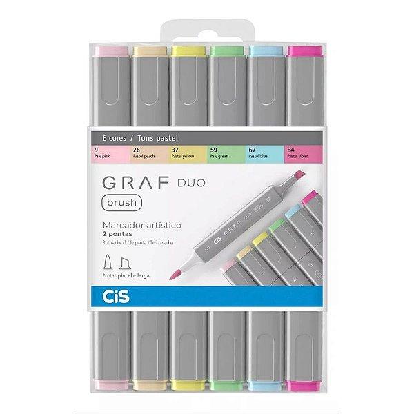Kit CIS Graf Duo Brush c/6 Tons Pasteis