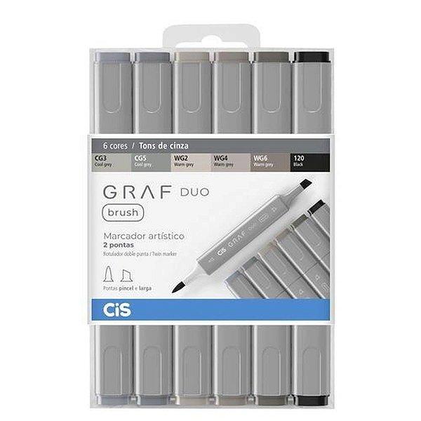 Kit CIS Graf Duo Brush c/6 Tons Cinza