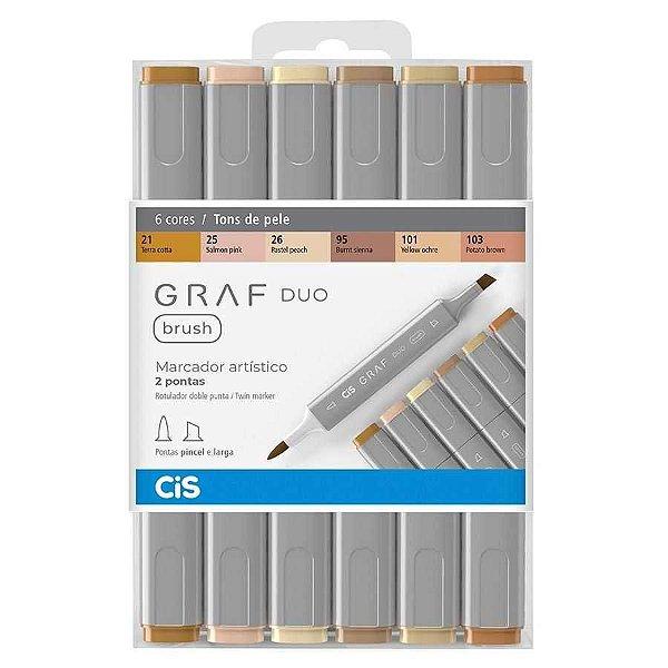 KIt Cis Graf Duo Brush c/6 Tons de Pele