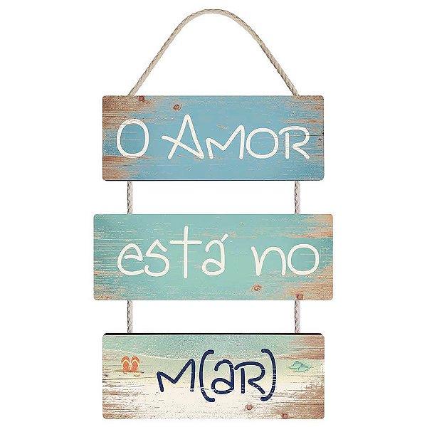 Placa Decorativa MDF - O amor está no M(ar) LITOARTE