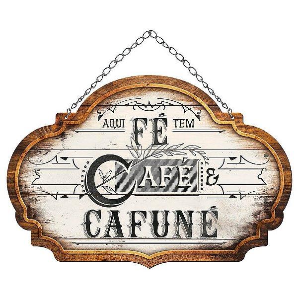 Placa Decorativa em MDF - Café LITOARTE