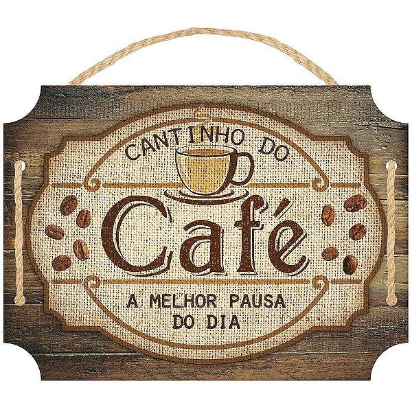 Placa Decorativa em MDF - Cantinho do café LITOARTE